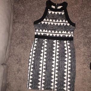 Black and white pattern Dress.